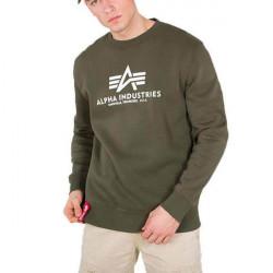Pánska mikina Alpha Industries Basic Sweater Dark Green