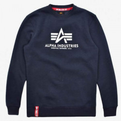 Pánska mikina Alpha Industries Label Sweater Black Reflective