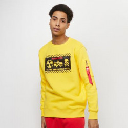 Pánska mikina Alpha Industries Radioactive Sweater yellow