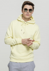Pánska mikina URBAN CLASSICS Basic Sweat Hoody powderyellow