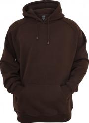 Pánska mikina bez zipsu URBAN CLASSICS Blank Hoody brown