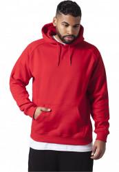 Pánska mikina bez zipsu URBAN CLASSICS Blank Hoody red