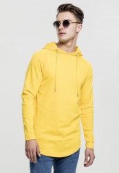 Pánska mikina bez zipsu URBAN CLASSICS Long Shaped Terry Hoody chrome yellow