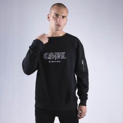 Pánska mikina Cayler & Sons BLACK LABEL Sweatshirt CSBL Arise Crewneck black / white - L