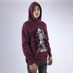 Pánska mikina Cayler & Sons BLACK LABEL Sweatshirt CSBL Arise Hoody bordeaux Size: XL