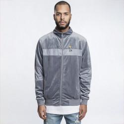 Pánska mikina Cayler & Sons White Label CHMPGN DRMS Track Jacket grey velour Size: 2XL