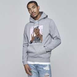 Pánska mikina Cayler & Sons WHITE LABEL Sweatshirt WL Me Rollin Hoody heather grey Size: 2XL