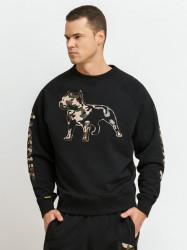 Pánska mikina cez hlavu Amstaff Logo 2.0 Sweatshirt čierna