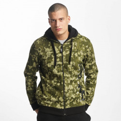Pánska mikina Dangerous DNGRS / Zip Hoodie Classic in camouflage Size: L