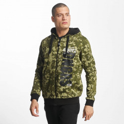 Pánska mikina Dangerous DNGRS / Zip Hoodie Unexpected in camouflage Size: XL