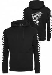 Pánska mikina FAMOS Checker Badge Hoody Farba: black,