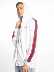 Pánska mikina Just Rhyse / Zip Hoodie Brooksville in white Size: M