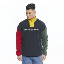 Pánska mikina Karl Kani Retro Block Troyer navy/red/green/yellow