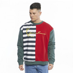 Pánska mikina Karl Kani Sweatshirt Signature Block Crew navy/white/red/green