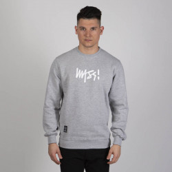 Pánska mikina Mass Denim Sweatshirt Crewneck Signature Medium Logo light heather grey