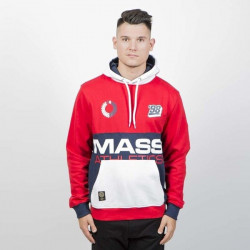 Pánska mikina Mass Denim Sweatshirt Meeting Hoody red
