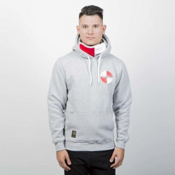 Pánska mikina Mass Denim Sweatshirt Signature Flag Hoody light heather grey