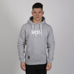 Pánska mikina Mass Denim Sweatshirt Signature Medium Logo Hoody light heather grey