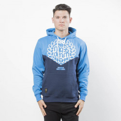 Pánska mikina Mass Denim Sweatshirt V Hoody blue