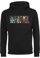 Pánska mikina MERCHCODE Marvel Logo Character Hoody Farba: black,