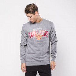 Pánska mikina Mitchell & Ness Cleveland Cavaliers Crewneck grey heather Team Arch