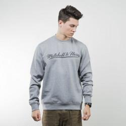 Pánska mikina Mitchell & Ness sweatshirt Own Brand Crewneck grey / black M&N Script Logo