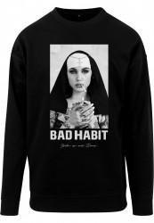 Pánska mikina MR.TEE Bad Habit Crewneck Farba: black, Grösse: XXL