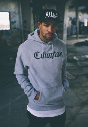 Pánska mikina MR.TEE Compton Hoody Farba: h.grey/blk,