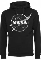 Pánska mikina MR.TEE NASA Black-and-White Insignia Hoody Farba: black,