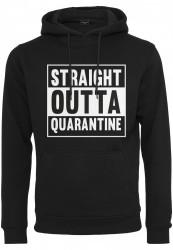 Pánska mikina MR.TEE Straight Outta Quarantine Hoody Farba: black,