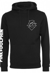 Pánska mikina Pink Dolphin Colorless Logo Hoody black Farba: black,