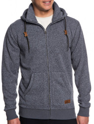 Pánska mikina Quiksilver Keller Zip dark grey heather