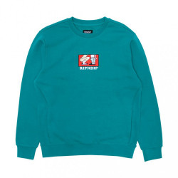 Pánska mikina RIPNDIP Love Is Blind Crew teal