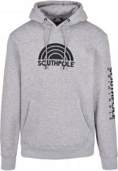 Pánska mikina Southpole Halfmoon Hoody Farba: h.grey, Grösse: XXL