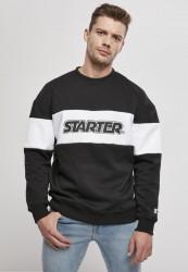 Pánska mikina Starter Block Crewneck Farba: black/white,
