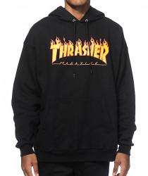 Pánska mikina Thrasher Flame Logo Hoodie black Farba: Čierna,