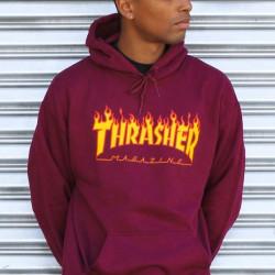 Pánska mikina Thrasher Flame Logo Hoodie maroon Farba: Bordová,