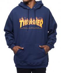 Pánska mikina Thrasher Flame Logo Hoodie navy Farba: Modrá,