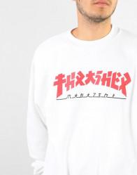 Pánska mikina Thrasher Godzilla Sweatshirt - White #2