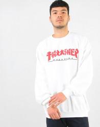 Pánska mikina Thrasher Godzilla Sweatshirt - White #3