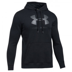 Pánska mikina UNDER ARMOUR Rival Fitted Graphic Hoodie Black - L