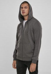 Pánska mikina URBAN CLASSICS Basic Terry Zip Hoodie darkshadow