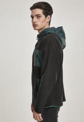 Pánska mikina URBAN CLASSICS Contrast Polar Fleece Zip Hoody #1