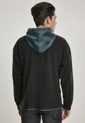 Pánska mikina URBAN CLASSICS Contrast Polar Fleece Zip Hoody #2