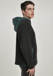 Pánska mikina URBAN CLASSICS Contrast Polar Fleece Zip Hoody #3