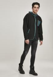 Pánska mikina URBAN CLASSICS Contrast Polar Fleece Zip Hoody #4