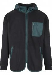Pánska mikina URBAN CLASSICS Contrast Polar Fleece Zip Hoody #5