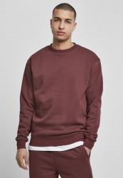Pánska mikina Urban Classics Crewneck Sweatshirt cherry
