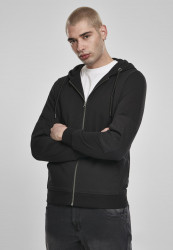 Pánska mikina Urban Classics Fabric Mix Zip Hoody black