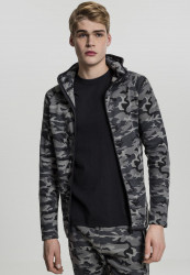 Pánska bunda Urban Classics Interlock Camo Zip Jacket dark camo
